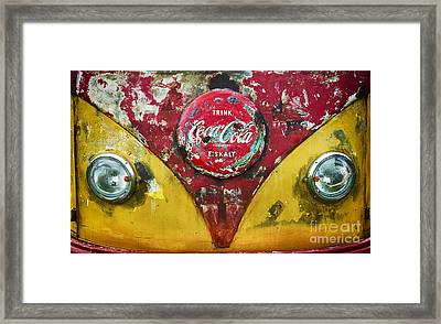 Coca Cola Vw Split Screen  Framed Print by Tim Gainey