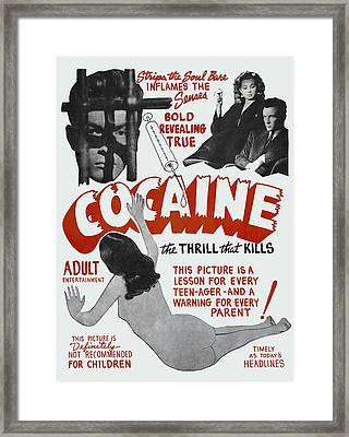 Cocaine ... The Thrill That Kills Lobby Poster 1948 Framed Print by Daniel Hagerman