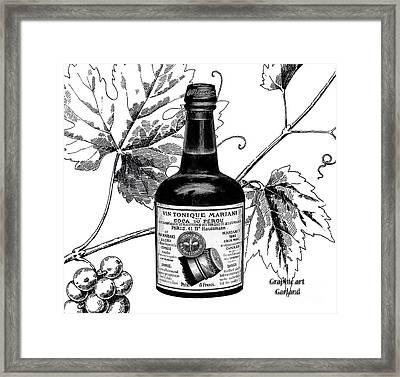 Cocaine Wine 1885 Framed Print by Garland Johnson