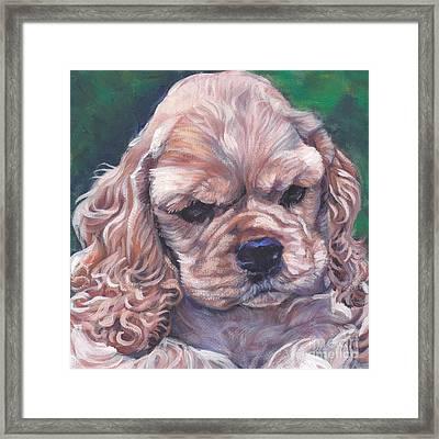 Cocker Spaniel Puppy Framed Print by Lee Ann Shepard