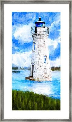 Cockspur Island Light - Georgia Coast Framed Print by Mark Tisdale