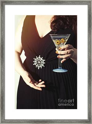 Cocktail Party Framed Print by Amanda Elwell