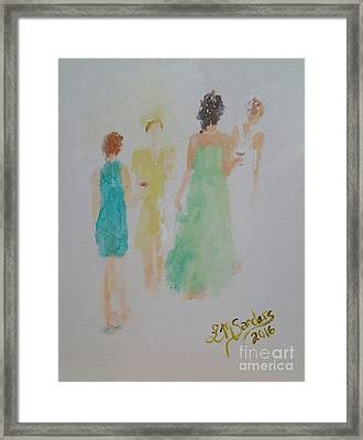 Cocktail Party Framed Print by Lisa Sanders