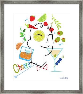 Cocktail Time Framed Print by Lisa Henderling