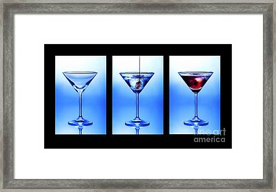 Cocktail Triptych Framed Print by Jane Rix