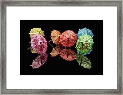 Cocktail Umbrellas II Framed Print by Tom Mc Nemar