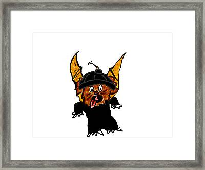 Coco As Thief Framed Print by Jera Sky