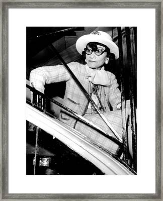 Coco Chanel, Watching Her 1969 Framed Print by Everett