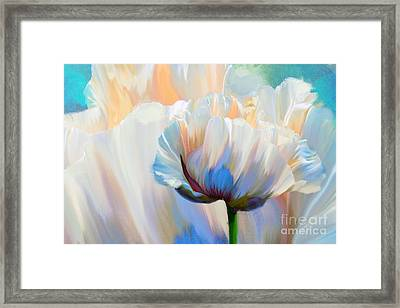 Coco In Love, Dramatic Floral Art Framed Print by Tina Lavoie