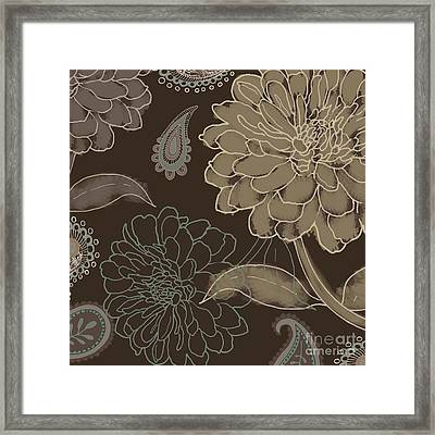 Cocoa Paisley II Framed Print by Mindy Sommers