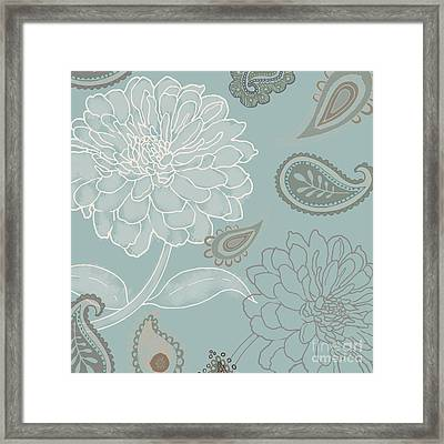 Cocoa Paisley Iv Framed Print by Mindy Sommers