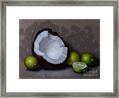 Coconut And Key Limes V Framed Print by Clinton Hobart