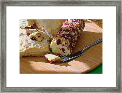 Coconut Scones With Cranberry Orange Macadamia Nut Butter Framed Print by James Temple