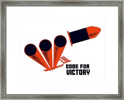 Code For Victory - Ww2 Framed Print by War Is Hell Store