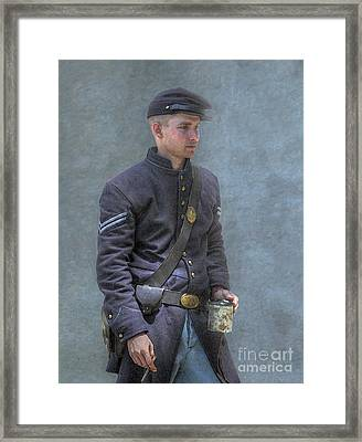Coffee And A Cigar Union Corporal Civil War Framed Print by Randy Steele