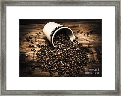 Coffee Bar Advertisement Framed Print by Jorgo Photography - Wall Art Gallery