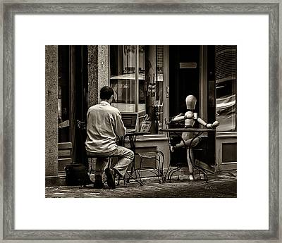 Coffee Break Framed Print by Bob Orsillo