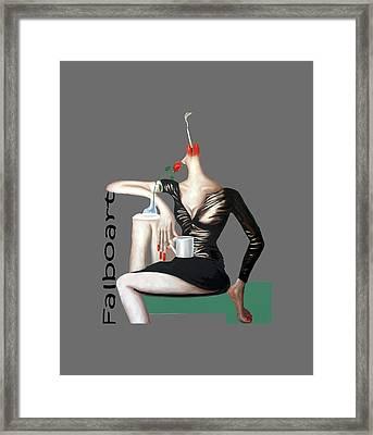 Coffee Break T-shirt Framed Print by Anthony Falbo