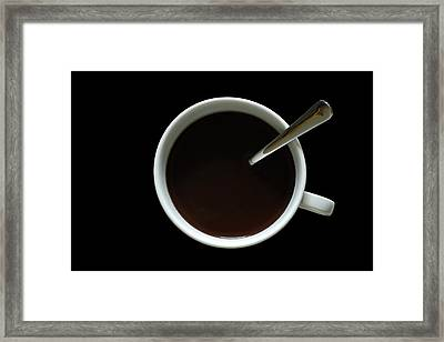 Coffee Cup Framed Print by Frank Tschakert