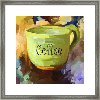 Coffee Cup Framed Print by Jai Johnson