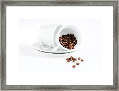 Coffee Cups And Coffee Beans  Framed Print by Ulrich Schade