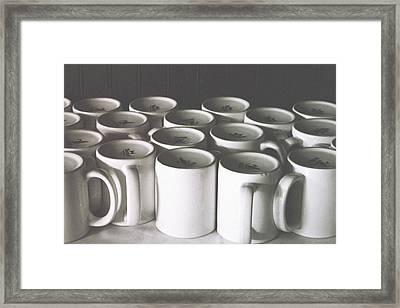 Coffee Cups- By Linda Woods Framed Print by Linda Woods