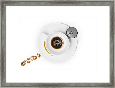 Coffee Drain Framed Print by Dennis Larsen