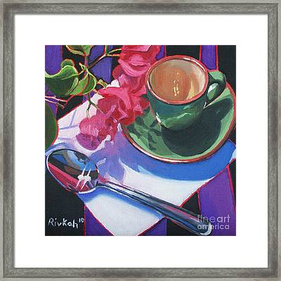 Coffee For One Framed Print by Rivkah Singh