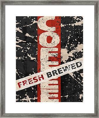 Coffee Fresh Brewed Framed Print by Marilu Windvand
