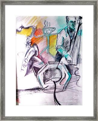 Coffee House Jazz Framed Print by Jamey Balester