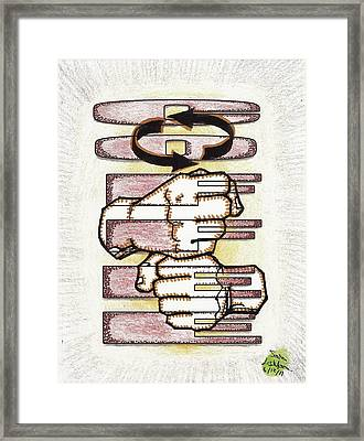 Coffee In Asl Framed Print by Scott Lightfoot