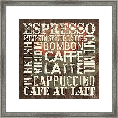 Coffee Of The Day 2 Framed Print by Debbie DeWitt
