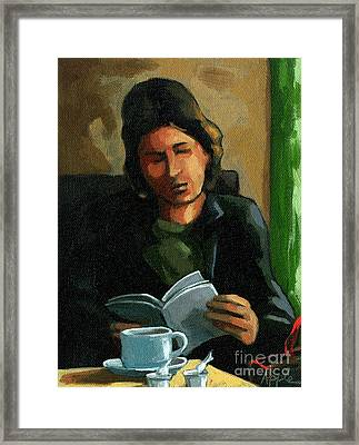 Coffee Time Framed Print by Linda Apple