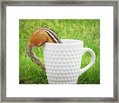 I Need My Coffee Framed Print by Karen Cook