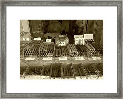 Cohiba Framed Print by Debbi Granruth