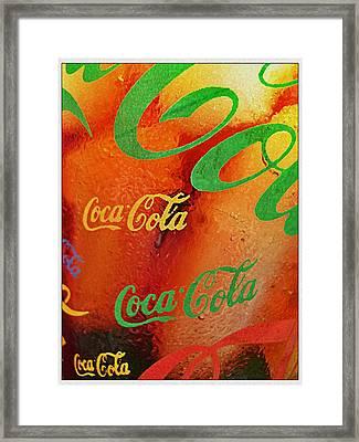 Coke Bubbles Framed Print by Kevin D Davis
