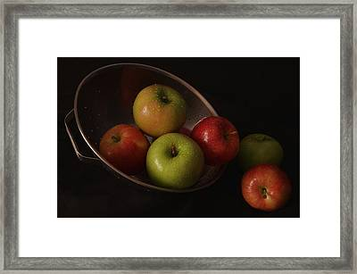 Colander Apples II Framed Print by Richard Rizzo
