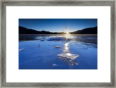 Cold As Ice Framed Print by Evan Spellman