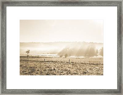 Cold Mysterious Winter Prairie Framed Print by Jorgo Photography - Wall Art Gallery