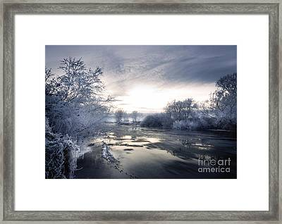 Cold River Flow Framed Print by Angel  Tarantella