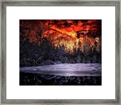Cold Sunrise Framed Print by Bob Orsillo