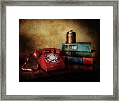 Cold War Red Telephone Framed Print by David and Carol Kelly