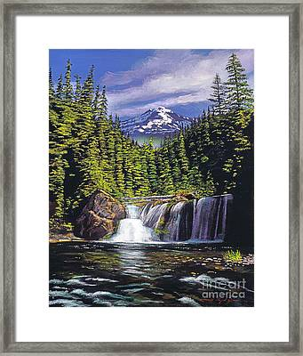 Cold Water Falls Framed Print by David Lloyd Glover