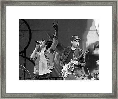 Coldplay 14 Framed Print by Rafa Rivas