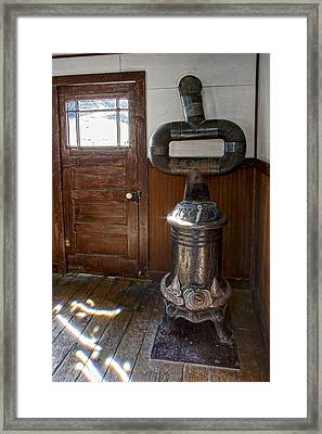 Coles Hot Blast Stove - Molson Ghost Town Framed Print by Daniel Hagerman
