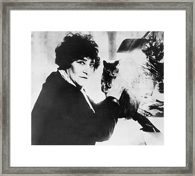 Colette 1873-1954 As The Most Honored Framed Print by Everett