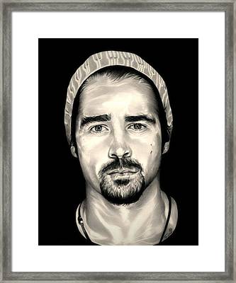 Colin Farrell  Total Recall Framed Print by Fred Larucci