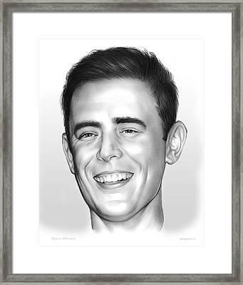 Colin Hanks Framed Print by Greg Joens