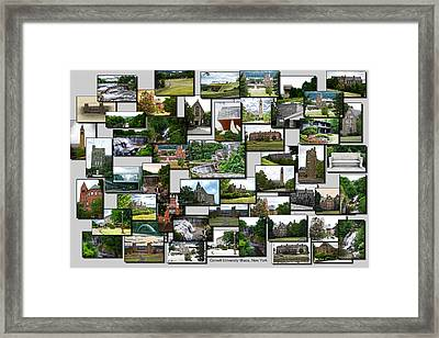 Collage Cornell University Ithaca New York 01 Framed Print by Thomas Woolworth