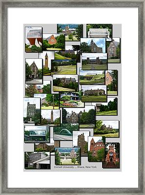 Collage Cornell University Ithaca New York Vertical Framed Print by Thomas Woolworth
